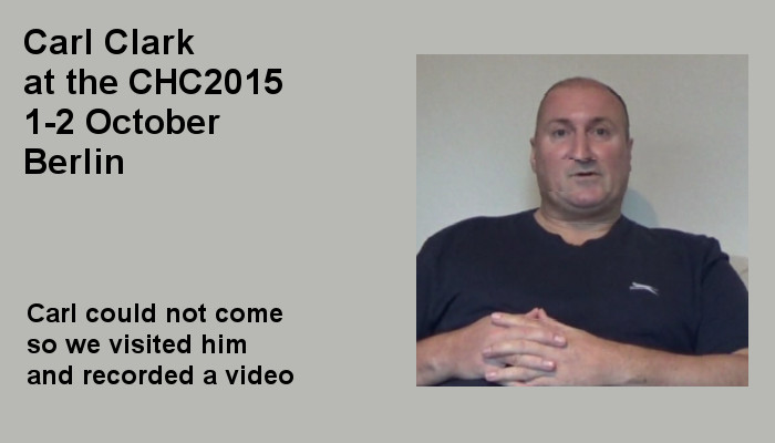 Carl Clark at the Covert Harassment Conference 2015, 1-2 October, Berlin