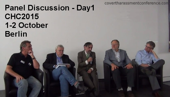 Panel Discussion Covert Harassment Conference 2015 - Day1