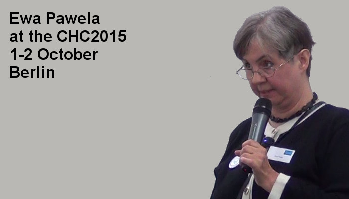 Ewa Pawela at the Covert Harassment Conference 2015, 1-2 October, Berlin