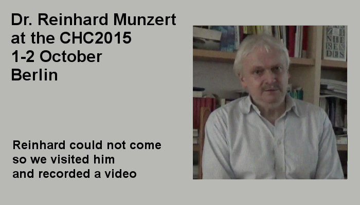 Dr. Reinhard Munzert at the Covert Harassment Conference 2015, 1-2 October, Berlin