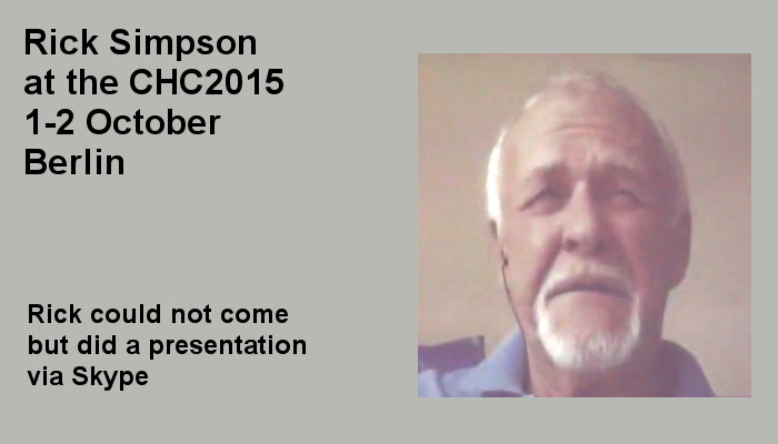 Rick Simpson at the Covert Harassment Conference 2015, 1-2 October, Berlin